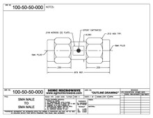 100-50-50-000:  SMA MALE TO SMA MALE (IN-SERIES ADAPTER)