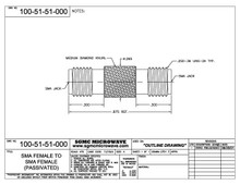 100-51-51-000:  SMA FEMALE TO SMA FEMALE (PASSIVATED) (IN-SERIES ADAPTER) KNURLED