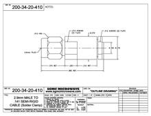 200-34-20-410:  2.92mm MALE TO .141 SEMI-RIGID CABLE (SOLDER CLAMP)