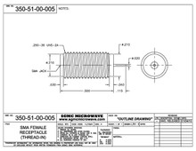 350-51-00-005:  SMA FEMALE RECEPTACLE (THREAD-IN) STRAIGHT TERMINAL
