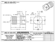 "362-31-00-470:  1.85mm FEMALE PCB EDGE MOUNT / .012"" DIA PIN (.047"" BOARD THICKNESS)"