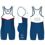 Nike Men's USAWR Grappler Elite Tour 2 Wrestling Singlet - Royal