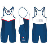 Nike Youth USAWR Grappler Elite Tour 2 Wrestling Singlet - Royal