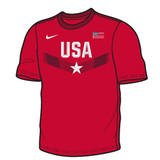 Nike Men's USAWR SS Cotton Replica Tee - Red