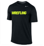 Nike Boy's Wrestling Team Legend SS Crew - Black