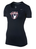 Nike Women's USAW Team Legend SS Crew - Navy