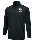 Nike Men's USAWR Dri Fit Zip Top - Black/White