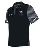 Nike Men's USAWR Stock Early Season Polo - Black/Red/White/Navy