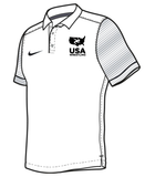 Nike Men's USAWR Stock Early Season Polo - White/Black