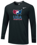 Nike Men's USAWR Team Legend LS Crew - Black/Red/White/Navy