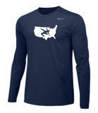 Nike Men's USAWR Team Legend LS Crew - Navy/White