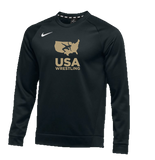 Nike Men's USAWR Therma Hoody KO - Black/Gold