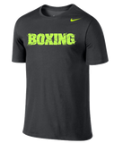 Nike Men's Boxing Dri Fit Cotton SS Version 2.0 - Anthracite/Volt