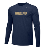Nike Men's Boxing Team Legend LS Crew - Navy/Gold