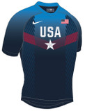 Nike Men's USAWR Paris Compression Fight Shirt - Navy