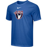 Nike Men's USAW Distressed Logo Team Legend SS Crew - Royal Blue