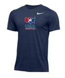 Nike Men's USAWR  Dry Hyper SS Top - Navy/Red/White/Navy