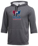 Nike Men's USAWR 3/4 Sleeve Hoodie - Grey/Red/White/Navy