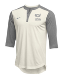 Nike Men's USAWR Flux Henley - White/Grey