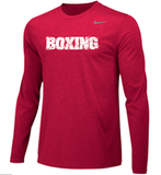 Nike Men's Boxing Team Legend LS Crew - Red/White