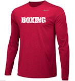 Nike Men's Boxing Team Legend LS Crew - Red/White