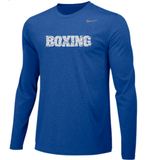 Nike Men's Boxing Team Legend LS Crew -Royal/Silver