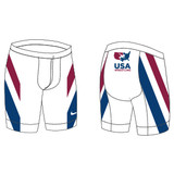 Nike Men's USAWR Compression Short - White