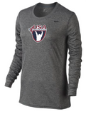 Nike Women's USAW Long Sleeve Legend - Heather/Black