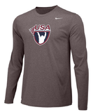Nike Men's USAW Long Sleeve Legend - Heather/Black