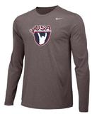 Nike Men's USAWLong Sleeve Legend - Heather/Black