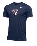 Nike Men's USAW Short Sleeve Dri Fit Hyper Tee -Navy/White