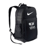 Nike USAWR Brasilia Backpack - Black/Metallic Silver