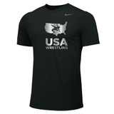 Nike Men's USAWR Dri-Fit Cotton Tee - Black/Metallic Silver