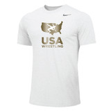 Nike Men's USAWR Dri-Fit Cotton Tee - White/Metallic Gold