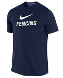 Nike Men's Cotton Fencing Shirt - Navy / White