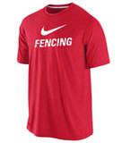 Nike Men's Cotton Fencing Shirt - Red / White