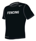 Nike Men's Cotton Fencing Shirt - Black / White