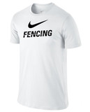 Nike Men's Cotton Fencing Shirt - White / Black