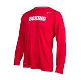 Nike L/S Dri Fit Legend Boxing Shirt - Red