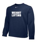 Nike Weightlifting Club Crew Fleece - Navy