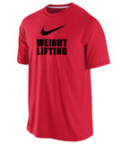 Nike Men's Cotton Weightlifting Shirt - Red / Black
