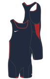 Nike Men's Weightlifting Singlet - Navy/Red