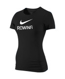 Nike Women's Slim Fit Rowing Shirt - Black