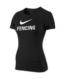 Nike Women's Slim Fit Fencing Shirt - Black