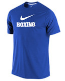 Nike Men's Dri-Fit Boxing Shirt - Royal / White