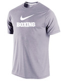 Nike Men's Dri-Fit Boxing Shirt - Heather Grey / White