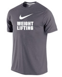 Nike Men's Dri-Fit Weightlifting Shirt - Dark Grey / White
