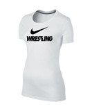 Nike Women's Cotton Wrestling Tee - White