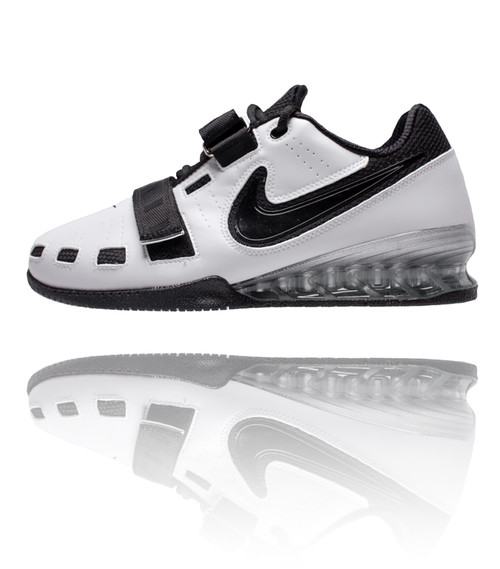 ... Nike Romaleos 2 Weightlifting Shoes - White / Black. Image 1