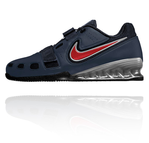 ... Nike Romaleos 2 Weightlifting Shoes - Obsidian / Red / White. Image 1